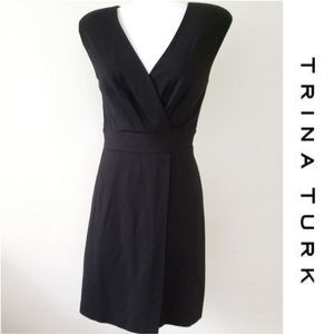 TRINA TURK Little Black faux wrap Dress